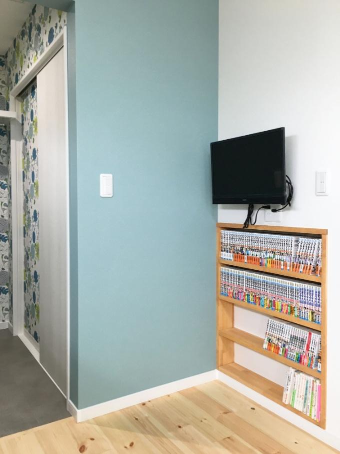 壁に造作したニッチ/注文住宅実例