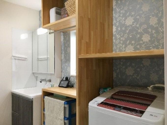 作業効率を考えた洗面室/注文住宅実例