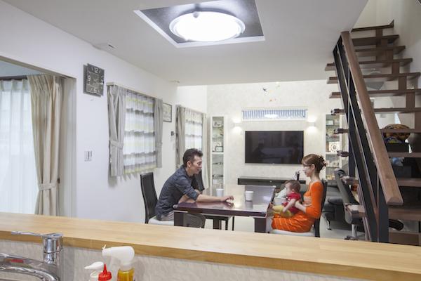 スケルトン階段の注文住宅実例