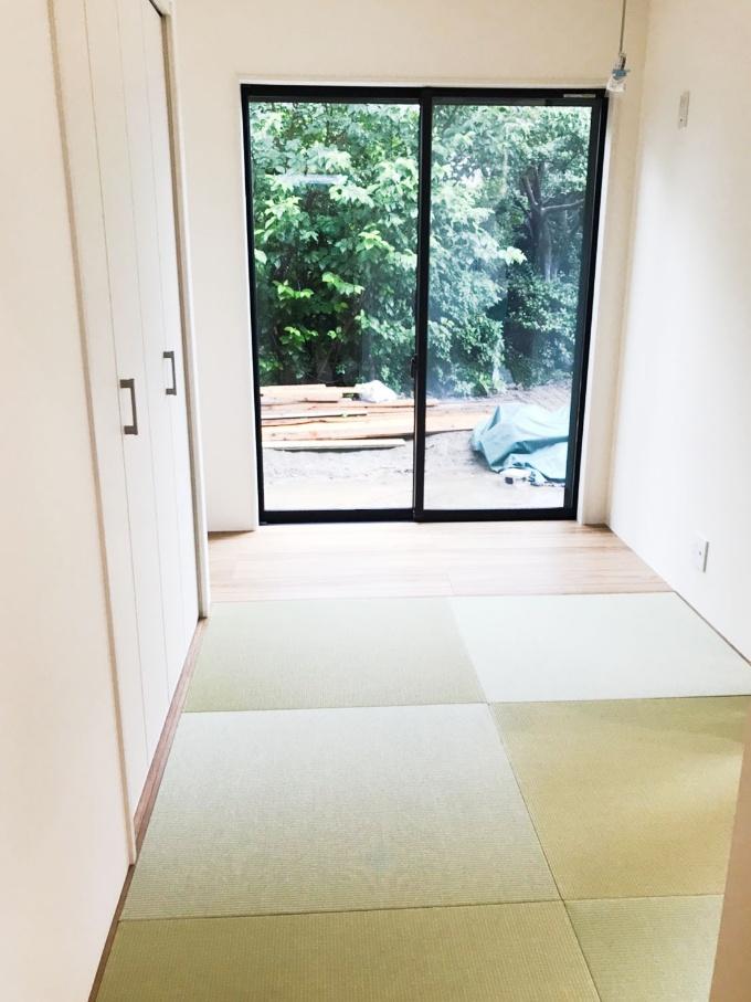 琉球畳を使った畳コーナー/注文住宅実例