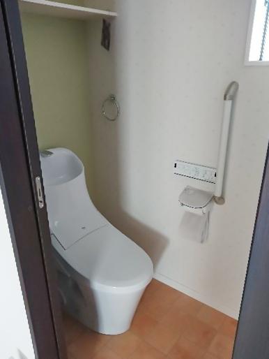 ガーデンをイメージしたトイレ/注文住宅実例