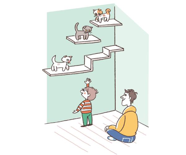 子どもが届かない高さに設置されたキャットウォーク