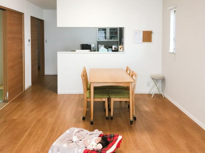 セミオープンタイプのキッチン/注文住宅実例