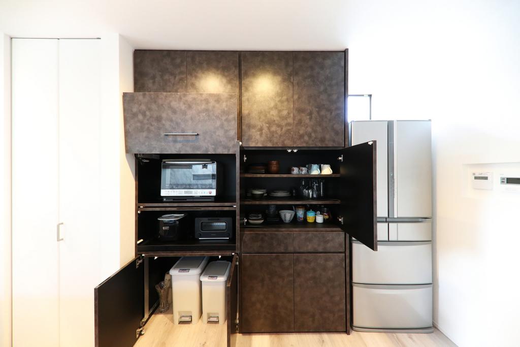 キッチン収納を造作した注文住宅実例