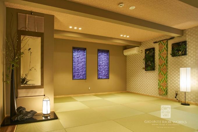 和室に間接照明を設置した事例