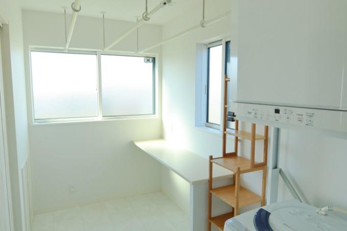 室内星のできる洗面室/注文住宅実例