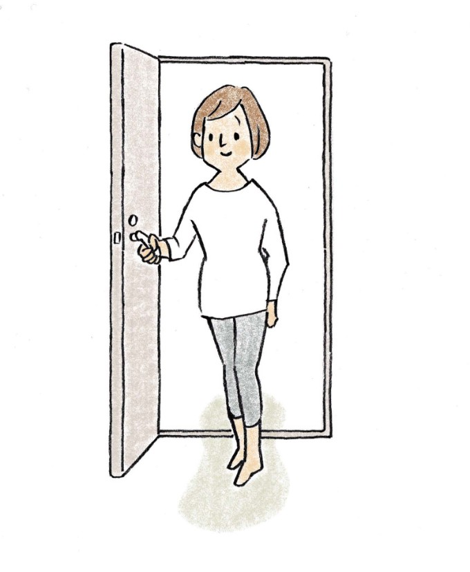 開き戸のイラスト