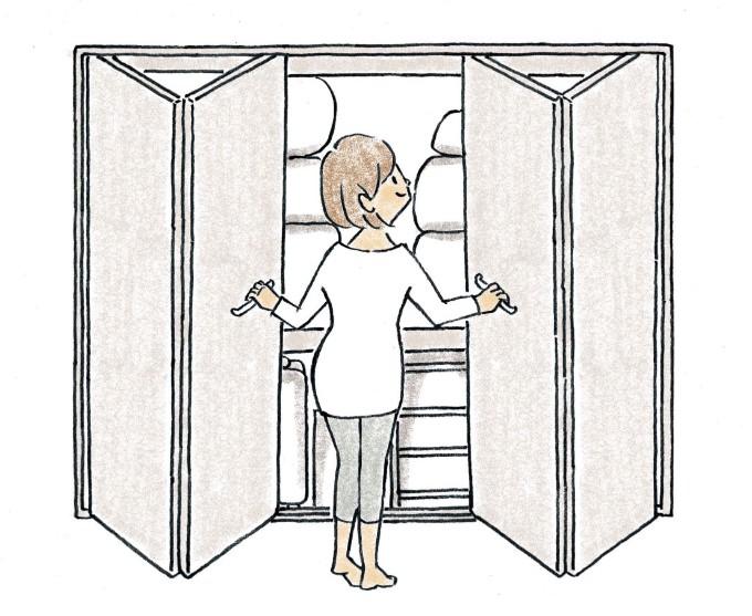 折れ戸のイラスト