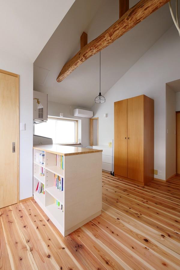 フリースペースのある家事室の実例