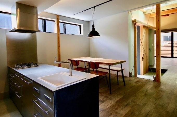 真壁造りのキッチン