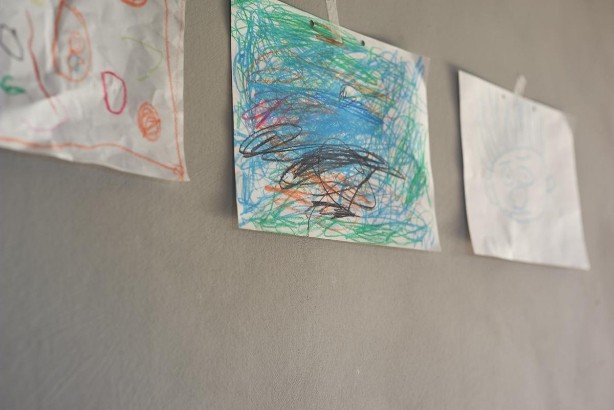 自然由来の塗料を自分で仕上げた内壁