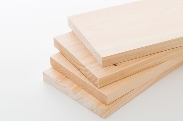 ヒノキの木材