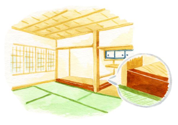 床板と床框を施した本床