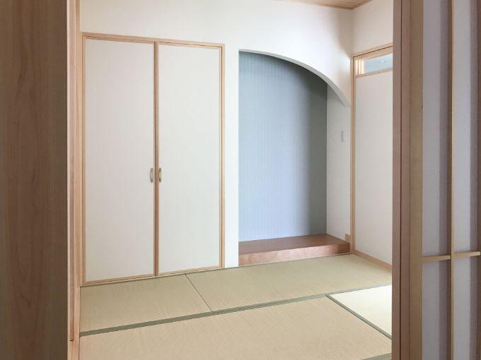 フレキシブルな使い方のできる和室/注文住宅実例