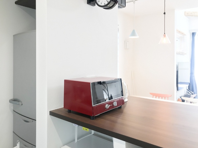 冷蔵庫の配置を工夫したキッチン/注文住宅実例