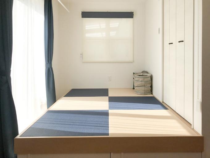 2色の畳を使用した畳コーナー/注文住宅実例