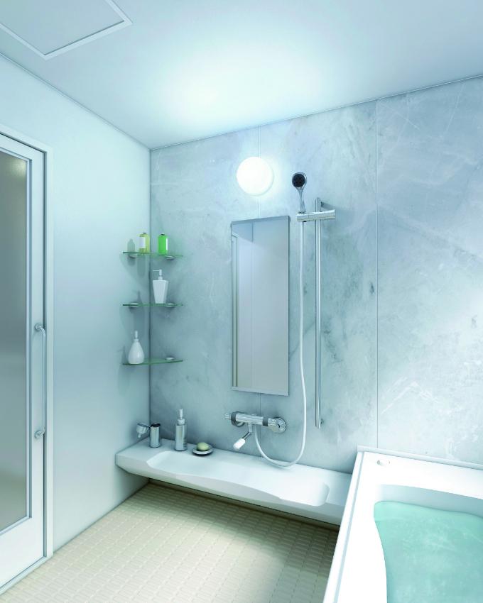 浴室の間接照明の実例