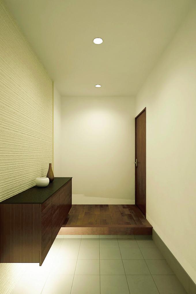 玄関の間接照明の実例