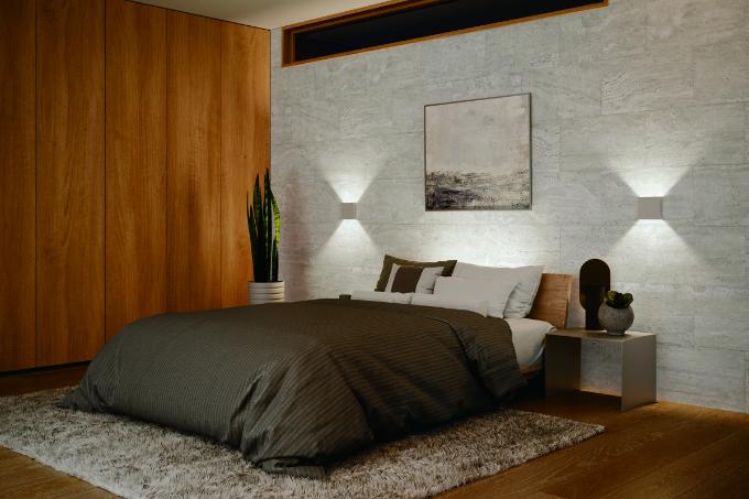 寝室の間接照明の実例