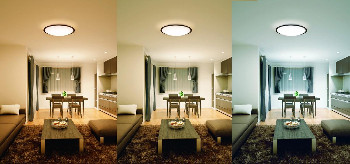 照明の色の比較
