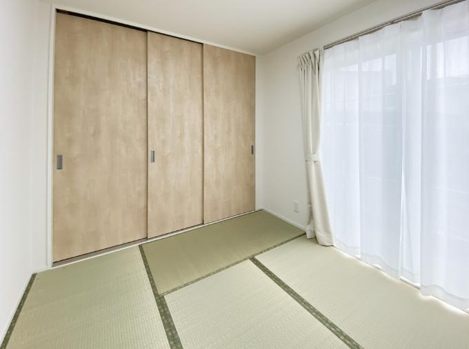 洗濯の動線を設置した和室/注文住宅実例