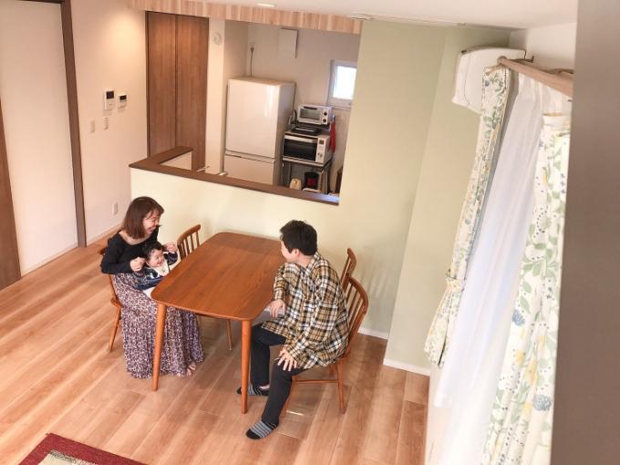 開放感のあるダイニングキッチン/注文住宅実例