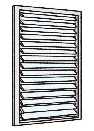 ルーバー窓(ジャロジー窓)