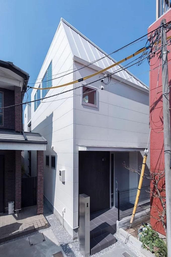 2階リビングのある家の外観