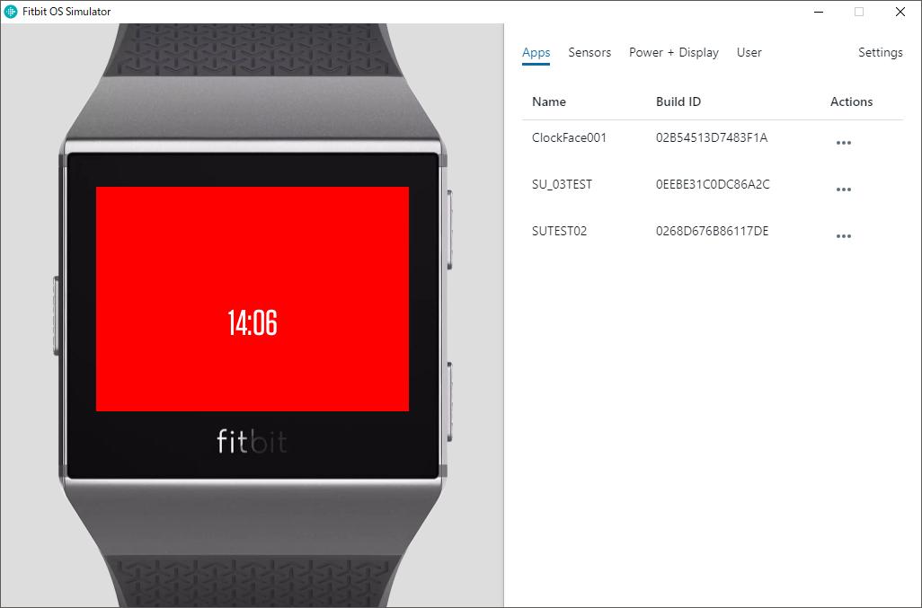 クロックフェイス開発 Fitbit