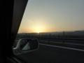 [車][すぅぱぁアコードわご][風景]日の出@中央道(飯田と伊那の間辺り)