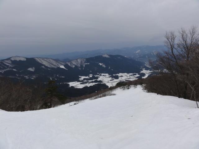 山頂からチャレンジコース・パラダイスコース方向