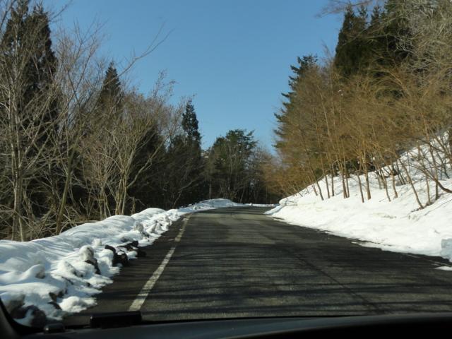 ゲレンデPへの道