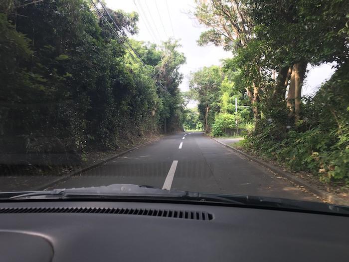 伊豆大島の道路