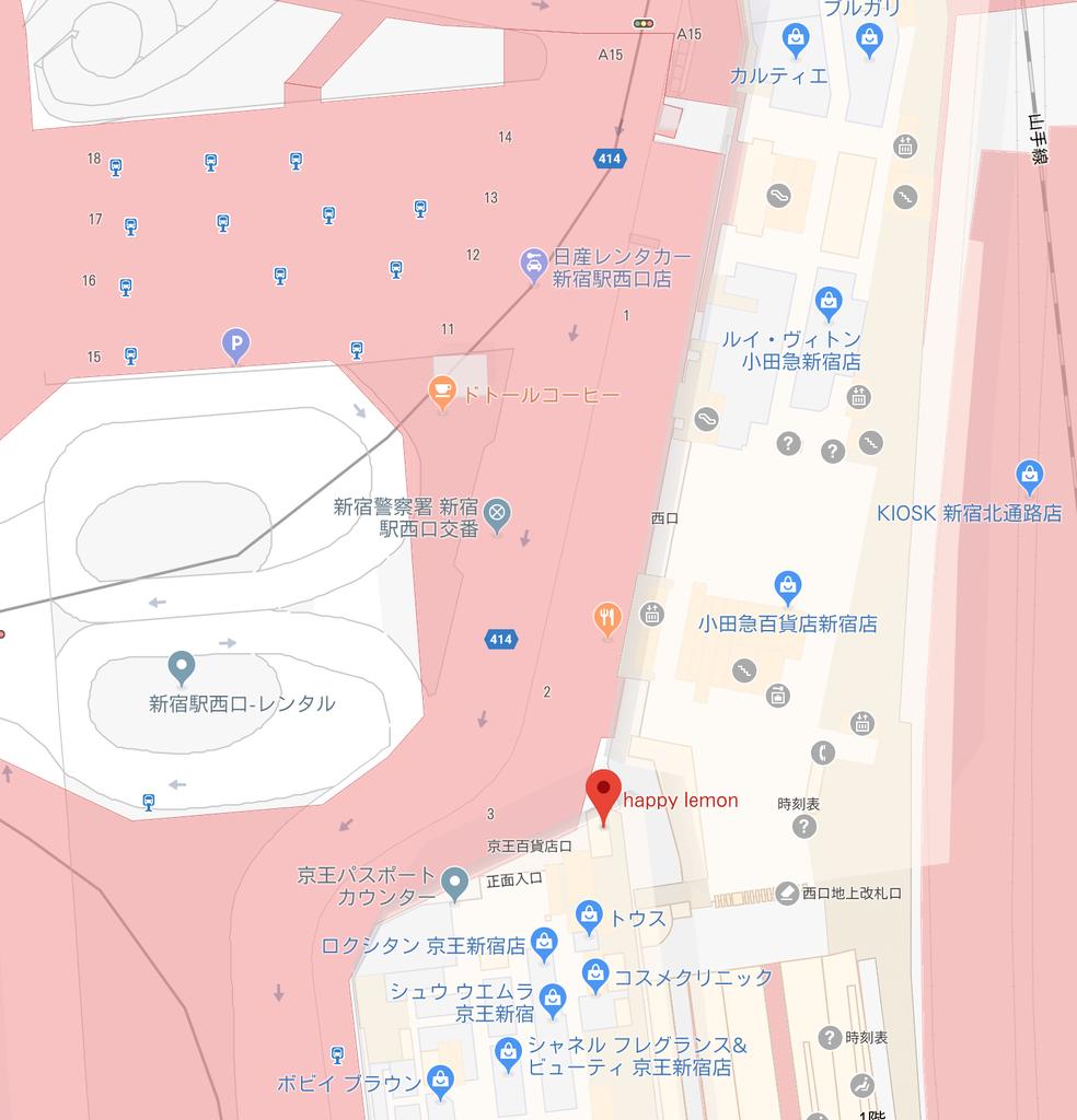 happylemonの場所googlemap