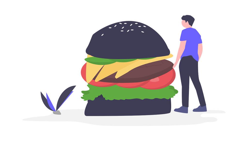 Uber Eatsのハンバーガーイメージ