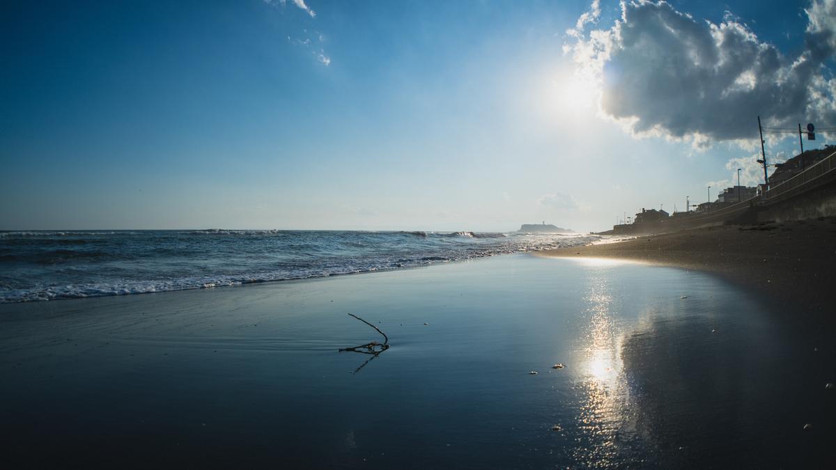 稲村ヶ崎の砂浜