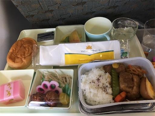 機内食 和食の写真