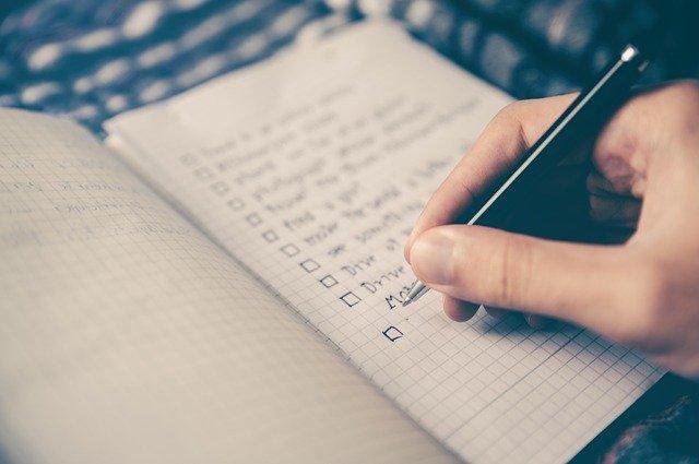 ブログを書いてるノート