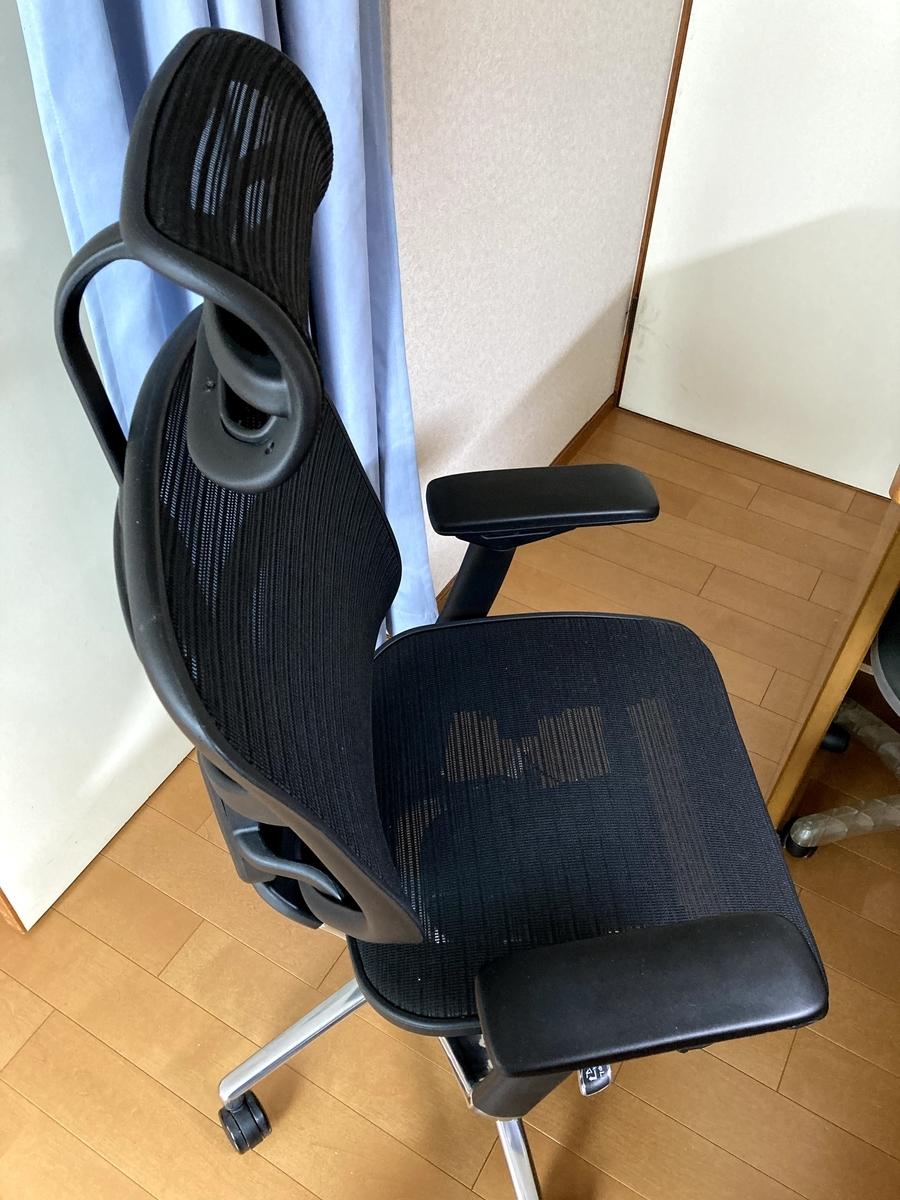 リモートワーク用椅子_側面より撮影