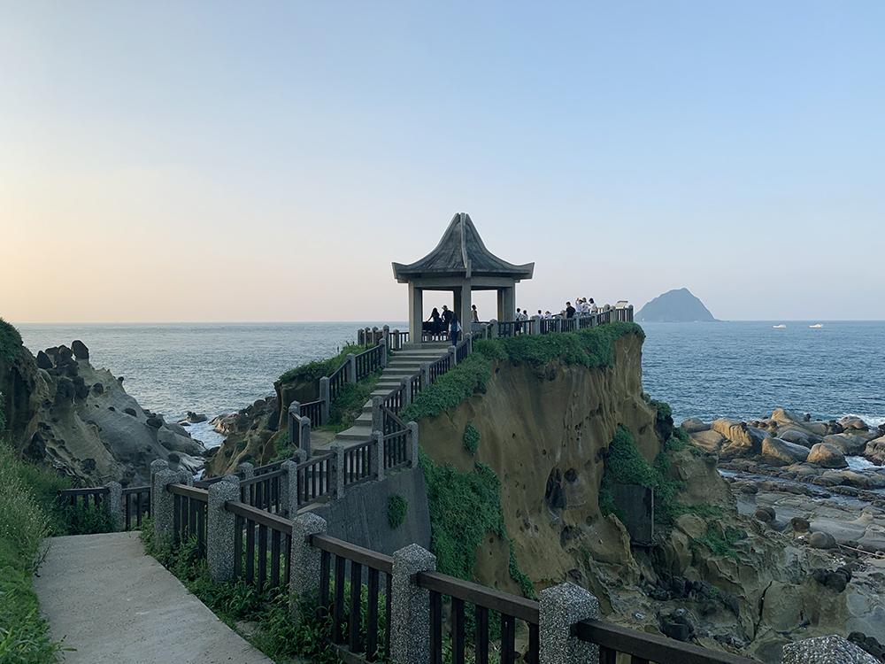 和平島公園から見える、海と奇岩の作り出す美しい景色
