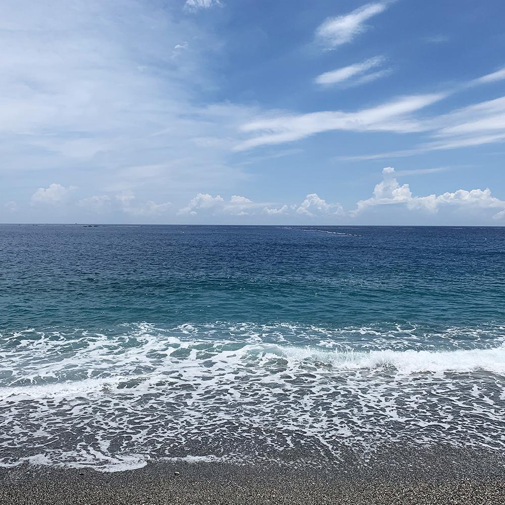 七星潭の美しい海