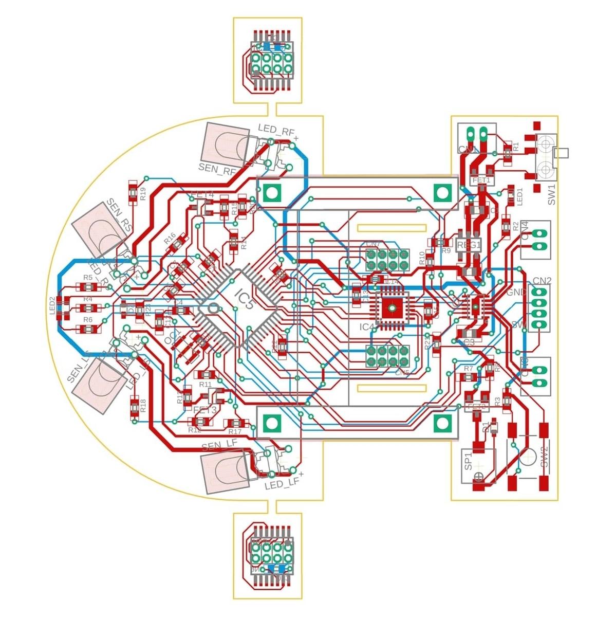 マイクロマウスの配線図