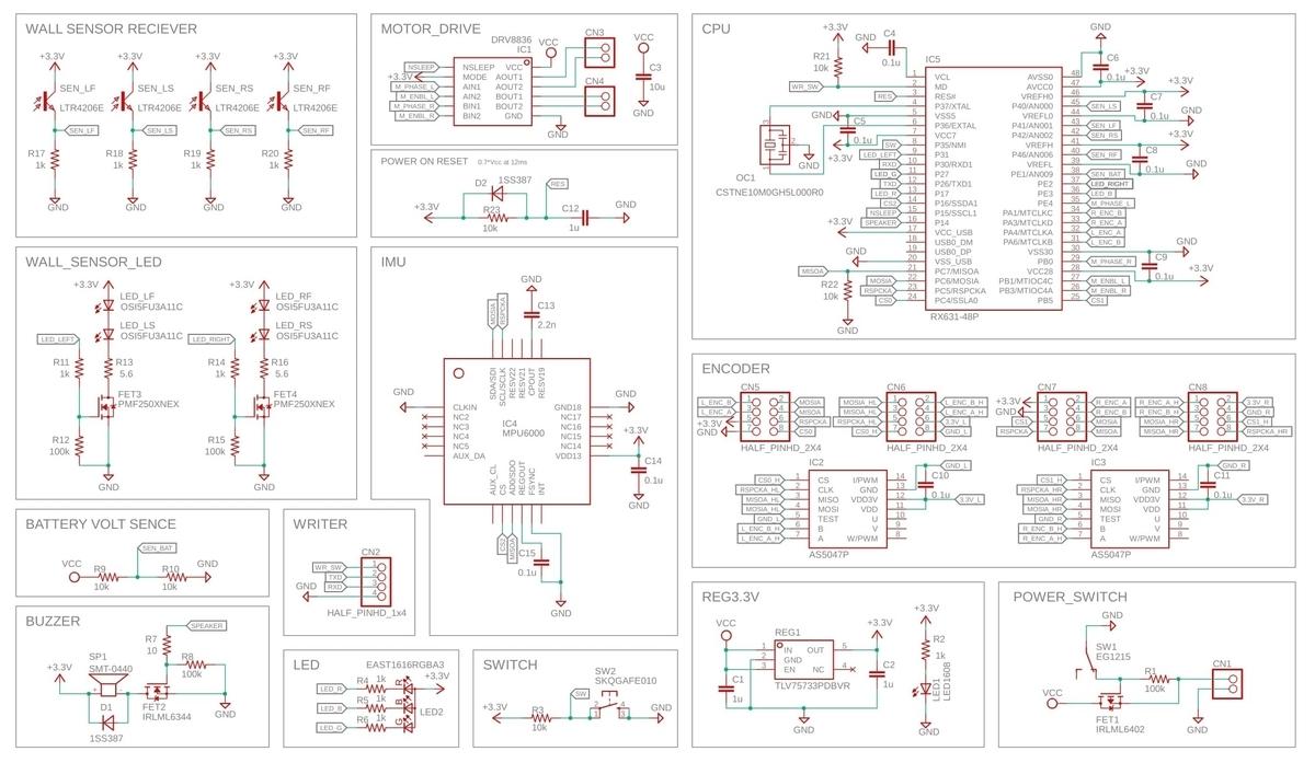 マイクロマウスの回路図
