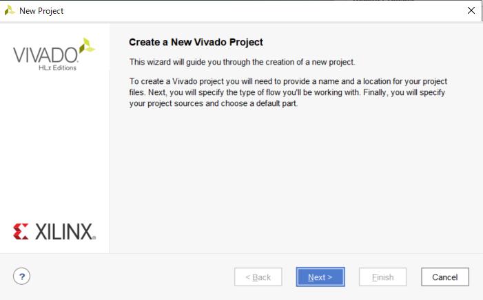 プロジェクトの作成画面2