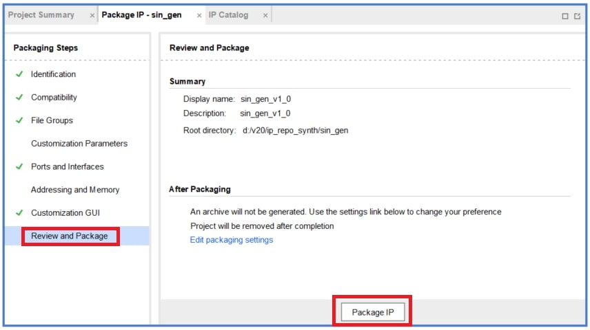 図20:「Package IP」をクリック