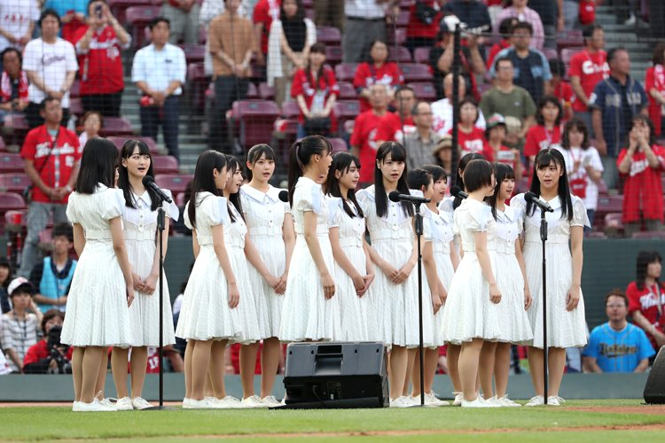 STU48が国歌斉唱