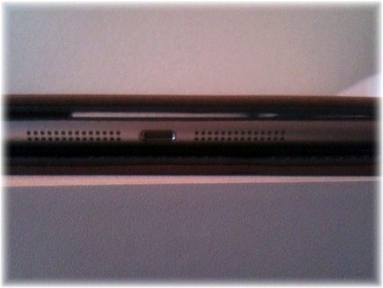 iPad miniとカバーの隙間