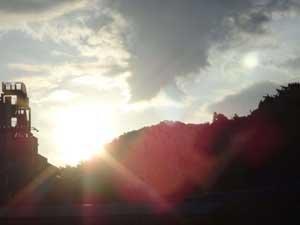 美しい朝日