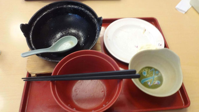 ジョイフル 鉄鍋ホルモンラーメン 完食