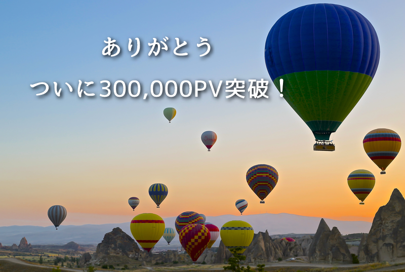 月間300,000PV